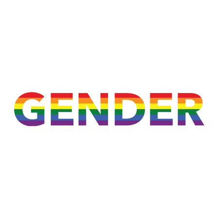Gender: Rainbow color calligraphy Illustration