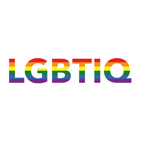 LGBTIQ: Rainbow color calligraphy