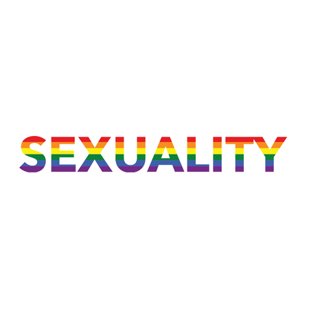 Sexuality: Rainbow color calligraphy