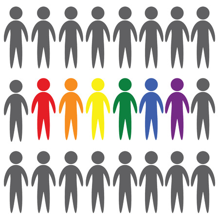 LGBT people vector icon on white background Ilustrace