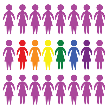LGBT people vector icon