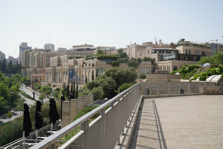 Landscape View of City Centre of Jerusalem, Israel. Travel and Tourism