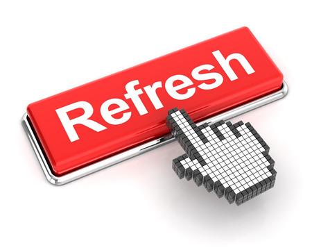 refresh button: Clicking on refresh button, 3d render