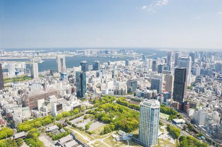 Luchtfoto van de stad Tokio overdag