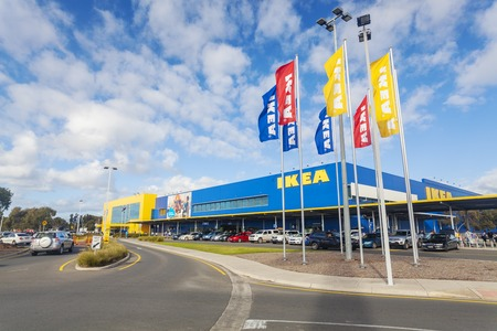 furniture store: Adelaide, Australia - July 6, 2014: Ikea store in Adelaide. Ikea is the world