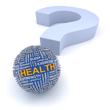 health questions: Health questions concept, 3d render, white background