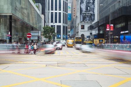 Hong Kong, 中国 - 2013 年 11 月 19 日: 中央、Hong Kong の交差点。中央地区多国籍金融 coperations の多くの本部と Hong Kong の中央ビジネス地区です。 報道画像