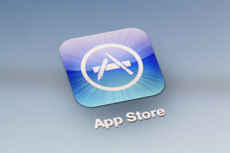 ios: Adelaide, Australia - September 27, 2012: Close-up view of the App Store icon on an iPad
