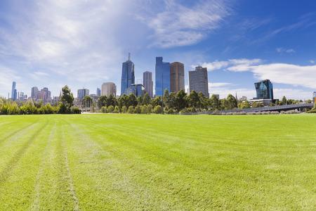 View of the skyline in Melbourne, Australia 版權商用圖片