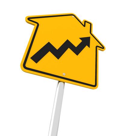 nieruchomosci: Wzrost rynku nieruchomości w przyszłość, 3d Zdjęcie Seryjne