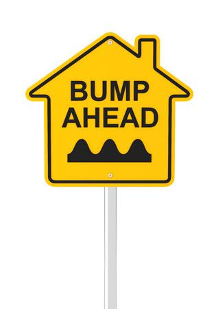 bumpy: Bumpy real estate market ahead, 3d render