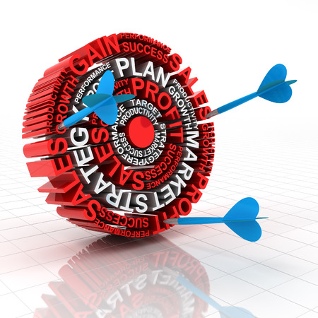 missed: Miss the business target concept, 3d render, white background