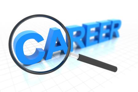 career plan: Looking for clear career path, 3d render