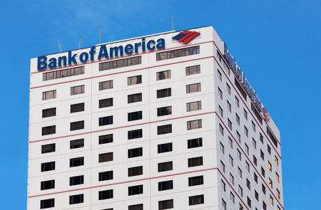 bank of america: Hong Kong, China - August 21, 2011: Bank of America building in Hong Kong. Bank of America is a multinational banking and financial services corporation. It is the largest bank in the US and the second largest bank in the world.