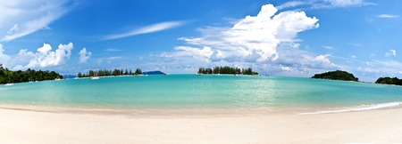 langkawi island: Panoramic view of a beautiful beach in Langkawi Malaysia Stock Photo