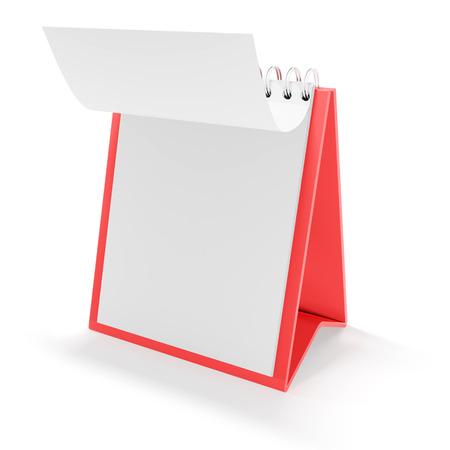 memorandum: Blank calendar with page flip, 3d render