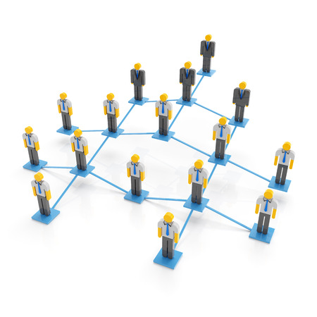 company: Company organization chart, 3d render, white background