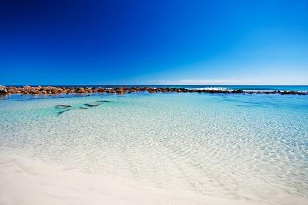 Rockpool am Stokes Bay, Kangaroo Island, South Australia Standard-Bild