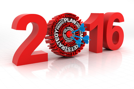 goal: 2016 business target, 3d render, white background