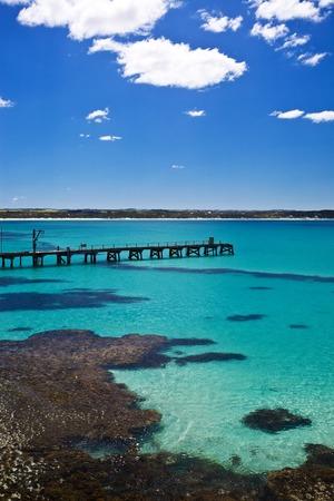 kangaroo island: Jetty in Vivonne Bay, Kangaroo Island of Australia