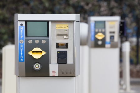 machines: Ticket machine at the exit of a car park