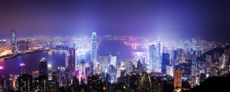 HONG KONG: View of Victoria Harbour in Hong Kong from the Peak