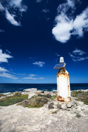 kangaroo island: A remote solar powered lighthouse at Kangaroo Island, Australia