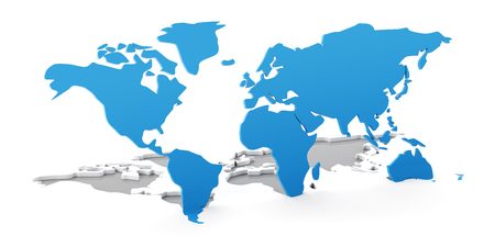 Detail world map with national borders 3d render white background detail 3d world map flipping up from white background 3d render photo gumiabroncs Choice Image