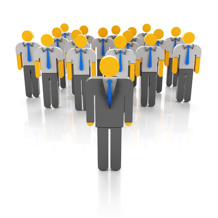 team concept: Business team and leadership concept, 3d render Stock Photo