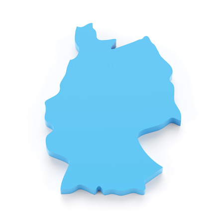 germany: Map of Germany, 3d render, white background