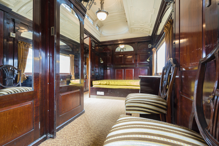 compartments: Travelling inside a luxurious vintage train carriage