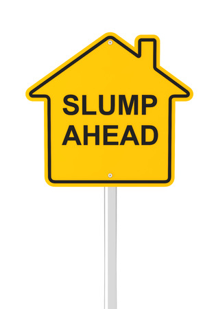 slump: Real estate market slump ahead, 3d render Stock Photo