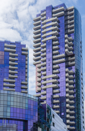 residential market: Melbourne, Australia - Feb 26, 2016: New residential apartment buildings in Melbourne CBD. There has been a significant residential apartment boom in Melbourne over the past few years.