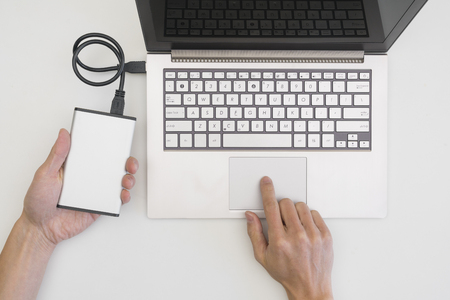 portable hard disk: Backing up computer files to external portable hard drive