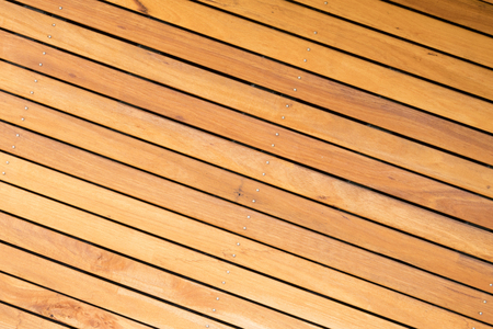 decking: Close-up view of outdoor wooden decking boards Stock Photo