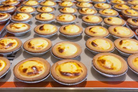 北海道チーズのタルトを焼き 写真素材