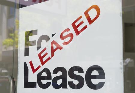 anuncio publicitario: Para el arrendamiento y el signo arrendada