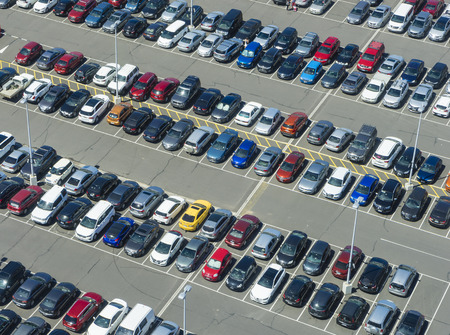 Aerial view of car park Editoriali