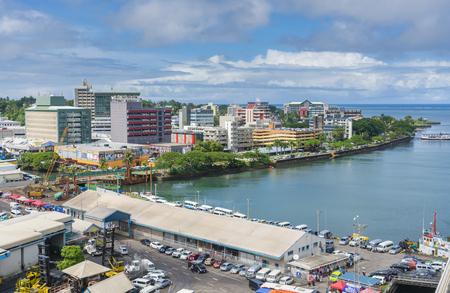 Innenstadt von Suva in Fidschi Standard-Bild - 75214950