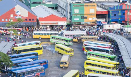 fijian: Busy bus terminal in Fiji Editorial