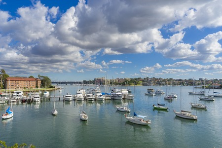 Yachts at a costal suburb in Sydney, Australia