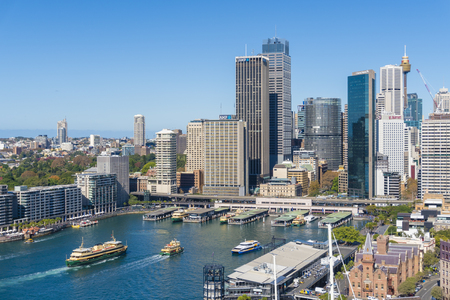 Aerial view of Circular Quay in Sydney