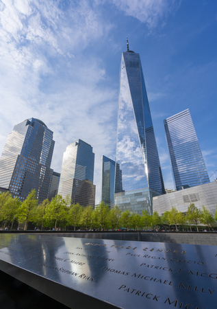 One World Trade Center and the 911 Memorial 新闻类图片