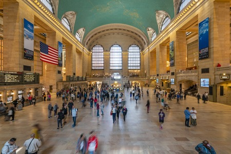 Commuters at Grand Central Station in New York