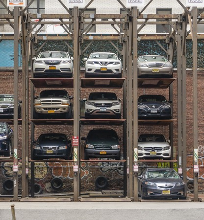Vertical car park in Manhattan New York