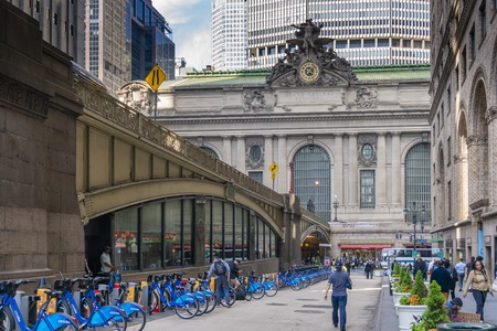 View of Grand Central Terminal in Midtown Manhattan Editorial