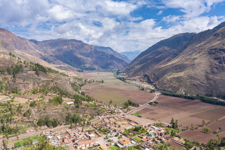 View of the Sacred Valley in Peru