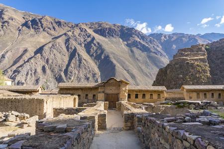 Ollantaytambo Ruins in Sacred Valley of Peru