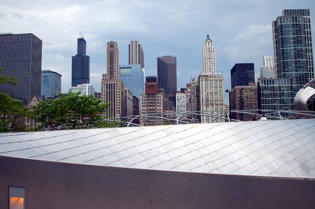 Millennium Park, Chicago Skyline