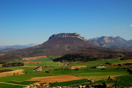 rhone: Typical landscape of south of France, Drome, Rhone, Alps